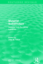 Material Substitution - 1st Edition book cover