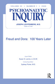 Freud and Dora: 100 Years Later - 1st Edition book cover
