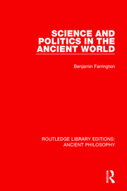 Science and Politics in the Ancient World - 1st Edition book cover