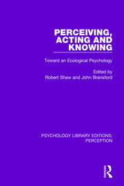 Perceiving, Acting and Knowing - 1st Edition book cover