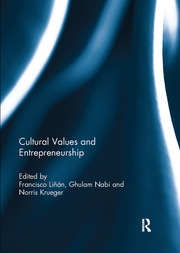 Cultural Values and Entrepreneurship - 1st Edition book cover