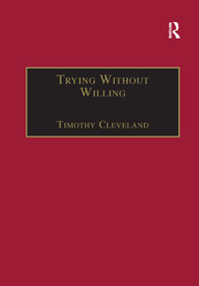 Trying Without Willing - 1st Edition book cover