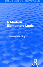 Routledge Revivals: A Modern Elementary Logic (1952) - 1st Edition book cover