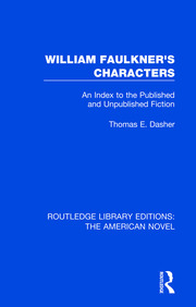 William Faulkner's Characters - 1st Edition book cover