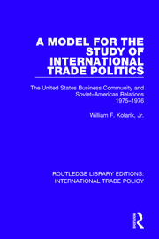 A Model for the Study of International Trade Politics - 1st Edition book cover