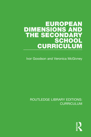 European Dimensions and the Secondary School Curriculum - 1st Edition book cover