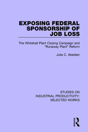 Exposing Federal Sponsorship of Job Loss - 1st Edition book cover