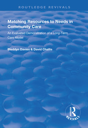 Matching Resources to Needs in Community Care - 1st Edition book cover