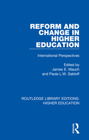Reform and Change in Higher Education - 1st Edition book cover