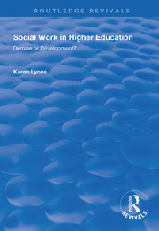 Social Work in Higher Education -  1st Edition book cover