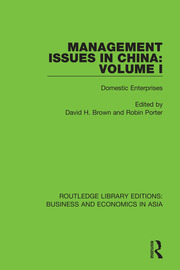 Management Issues in China: Volume 1: Domestic Enterprises