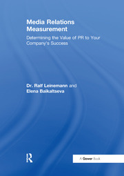 Media Relations Measurement - 1st Edition book cover