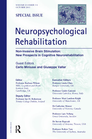 Non-Invasive Brain Stimulation: New Prospects in Cognitive Neurorehabilitation