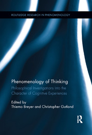 Phenomenology of Thinking - 1st Edition book cover