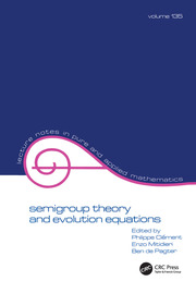 Semigroup Theory and Evolution Equations - 1st Edition book cover