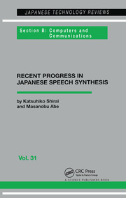 Japanese Speech Synthesis - 1st Edition book cover