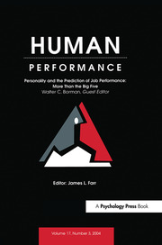 Personality and the Prediction of Job Performance - 1st Edition book cover