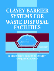 Clayey Barrier Systems for Waste Disposal Facilities - 1st Edition book cover