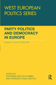 Party Politics and Democracy in Europe: Essays in honour of Peter Mair