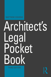 Architect's Legal Pocket Book - 3rd Edition book cover