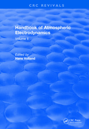Revival: Handbook of Atmospheric Electrodynamics (1995) - 1st Edition book cover
