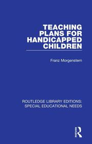 Teaching Plans for Handicapped Children - 1st Edition book cover