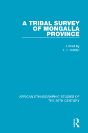 A Tribal Survey of Mongalla Province - 1st Edition book cover