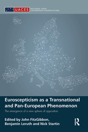 Euroscepticism as a Transnational and Pan-European Phenomenon - 1st Edition book cover