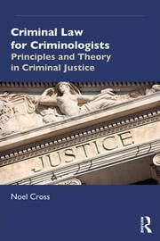 Criminal Law for Criminologists - 1st Edition book cover
