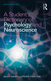 A Student's Dictionary of Psychology and Neuroscience - 6th Edition book cover