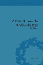 A Political Biography of Alexander Pope - 1st Edition book cover