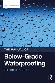 The Manual of Below-Grade Waterproofing - 2nd Edition book cover