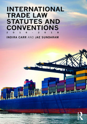 International Trade Law Statutes and Conventions 2016-2018 - 1st Edition book cover
