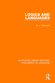 Logics and Languages - 1st Edition book cover