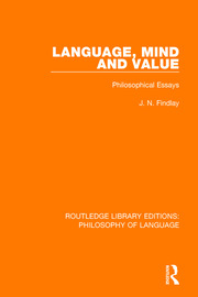 Language, Mind and Value - 1st Edition book cover