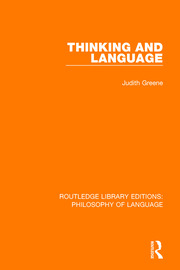 Thinking and Language - 1st Edition book cover