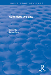 Administrative Law - 1st Edition book cover
