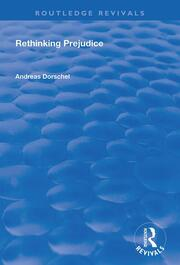 Rethinking Prejudice - 1st Edition book cover
