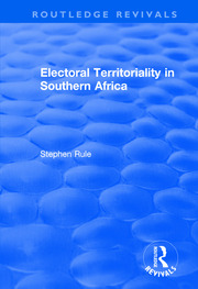 Electoral Territoriality in Southern Africa - 1st Edition book cover