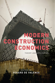 Modern Construction Economics - 1st Edition book cover