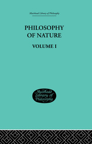 Hegel's Philosophy of Nature - 1st Edition book cover