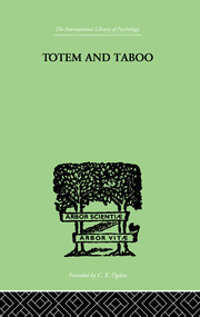 Totem And Taboo - 1st Edition book cover