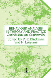 Behaviour Analysis in Theory and Practice - 1st Edition book cover