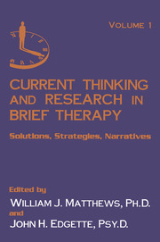 Current Thinking and Research in Brief Therapy - 2nd Edition book cover