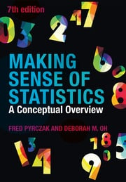 Making Sense of Statistics : A Conceptual Overview - 7th Edition book cover