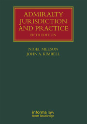 Admiralty Jurisdiction and Practice - 5th Edition book cover