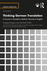 Thinking German Translation - 3rd Edition book cover