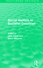 Social Welfare in Socialist Countries - 1st Edition book cover