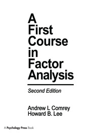 A First Course in Factor Analysis - 2nd Edition book cover