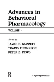 Advances in Behavioral Pharmacology - 1st Edition book cover